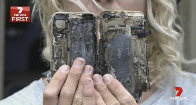 iPhone 7 стал причиной возгорания автомобиля