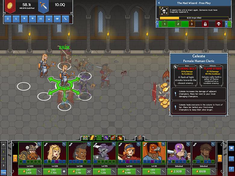«Idle Champions» – игра, которая «играет» в себя сама