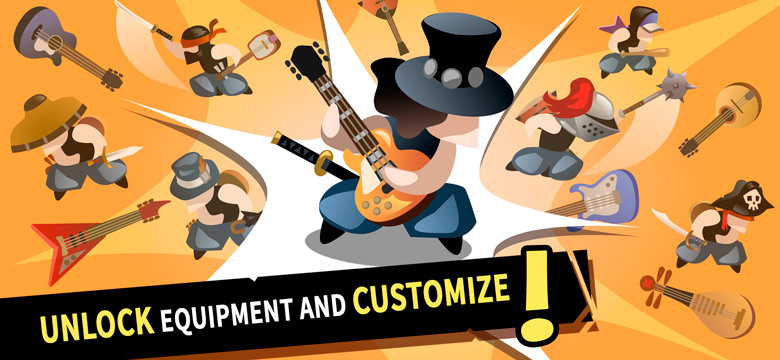 «Slashy Chords: Guitar Warriors», музыкальная аркада от Wave Cortex, вышла в AppStore