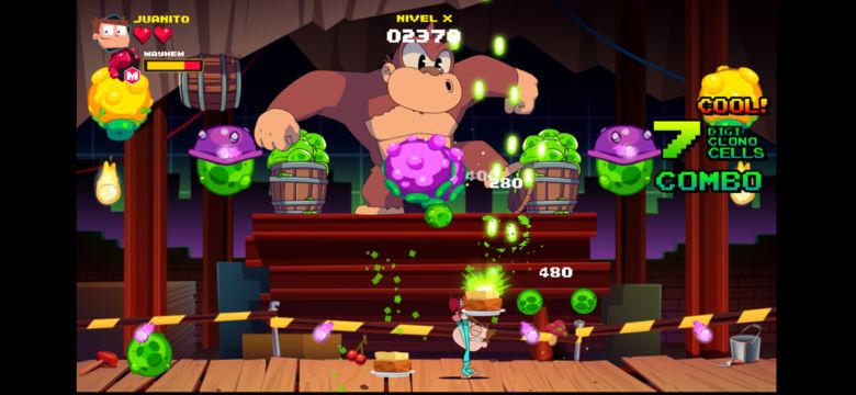 «Juanito Arcade Mayhem» – спасите ретро-игры от инопланетян!