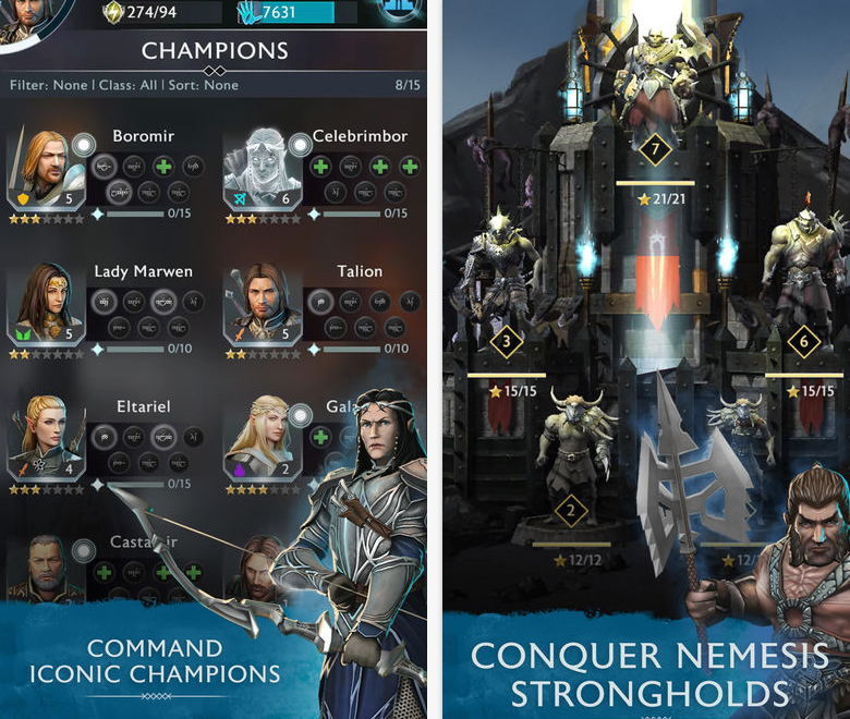 Разработчики «Middle-earth: Shadow of War Mobile» показали, как работает система Nemesis в их игре
