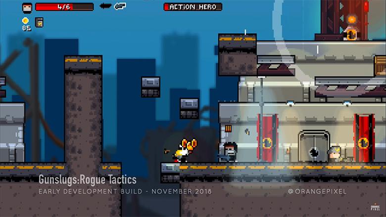 Команда OrangePixel выпустила новое видео «Gunslugs 3: Rogue Tactics»