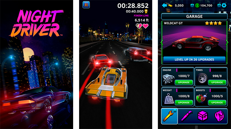 «Night Driver™» – аркадная ретро-гонка от Atari [софт-запуск]