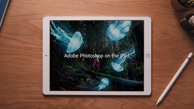 Adobe анонсировала полноценный «Photoshop CC» для iPad