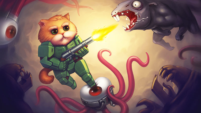 Сыграйте за бронированного котейку Armored Kitten