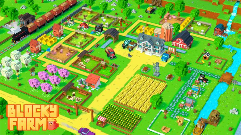 «Blocky Farm» – откройте свою ферму в стиле «Minecraft»