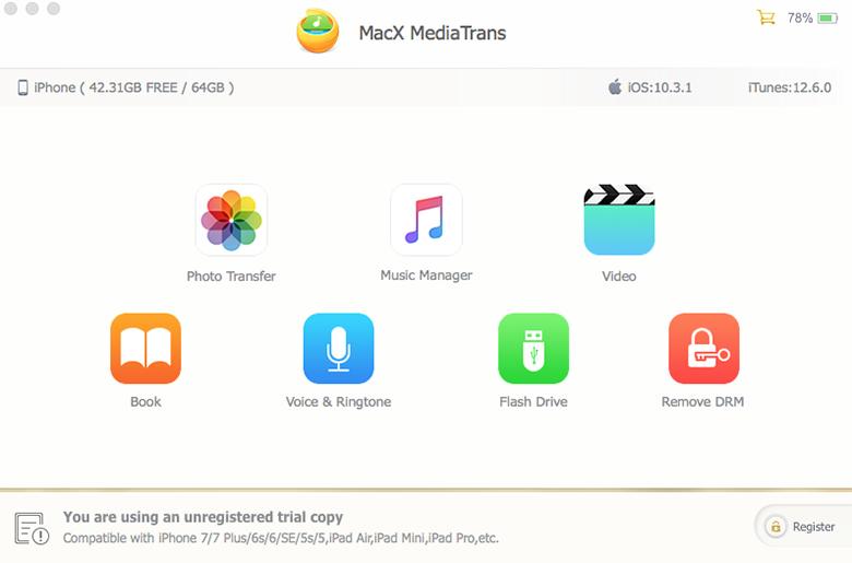 «MacX MediaTrans» – неплохая альтернатива iTunes [раздача ключей]