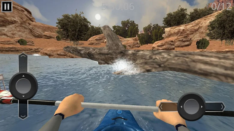 «RIVER RAFT: whitewater» – бесплатный симулятор сплава по рекам (рафтинга)