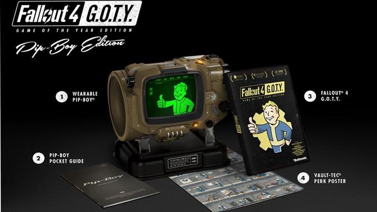 Также вместе с Fallout 4: GOTY в продажу поступит версия Pip-Boy Edition.