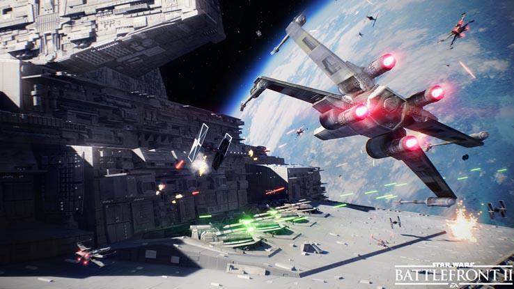 В сеть попал новый трейлер для Star Wars: Battlefront 2, посвящённый космическим битвам