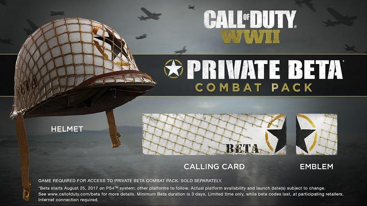 Все участники бета-тестирования получат набор Private Beta Combat Pack, куда входят: шлем, визитка и эмблема.