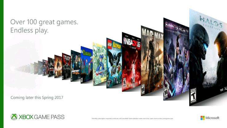Сервис Game Pass для Xbox One начал свою работу