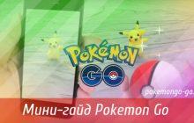 Мини-гайд Pokemon Go