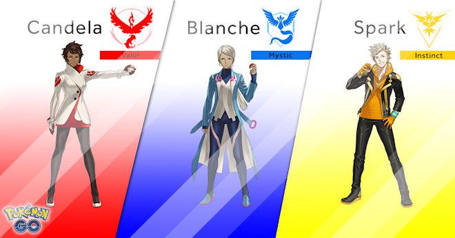 Лидеры команд в Pokemon GO раскрыли свои личности