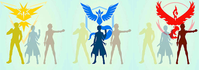 Битвы и Команды в Pokemon Go