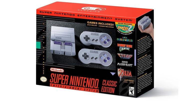 Версия Super NES Classic Edition для США.
