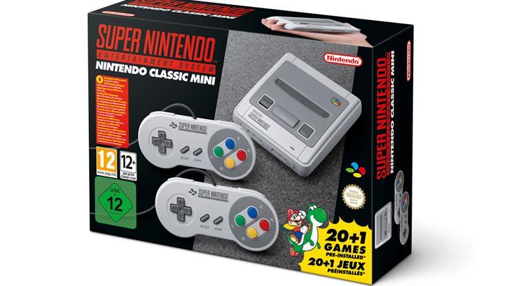 Версия Super NES Classic Edition для Европы.